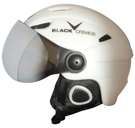 Black Crevice Ski-Helm mit Visier (alle Größen) + gratis Versand