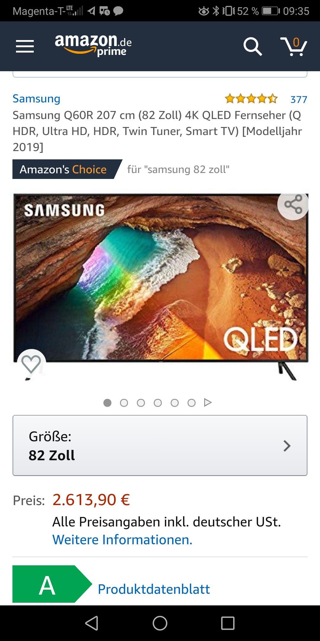 Samsung Q60R 207 cm (82 Zoll) 4K