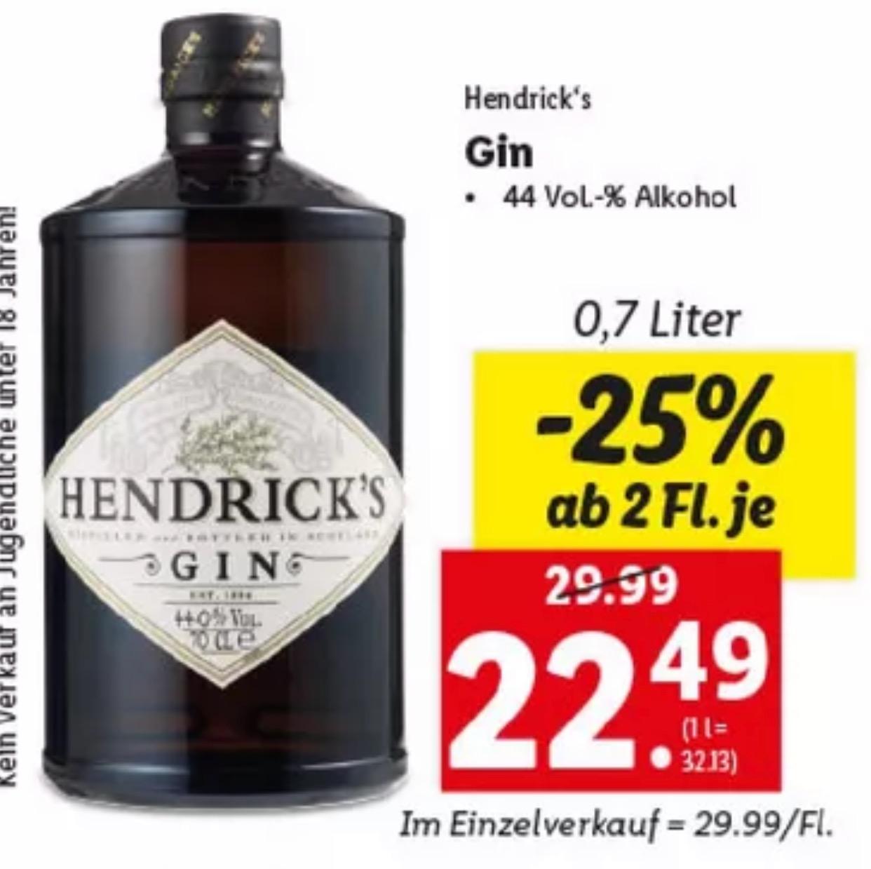 Hendrick´s Gin ab 2 Fl.
