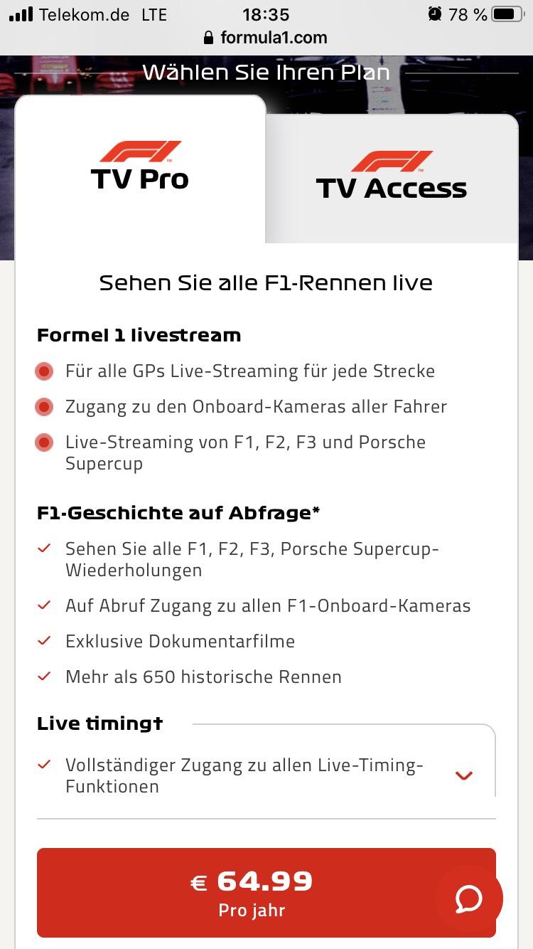 F1 TV 50% reduziert