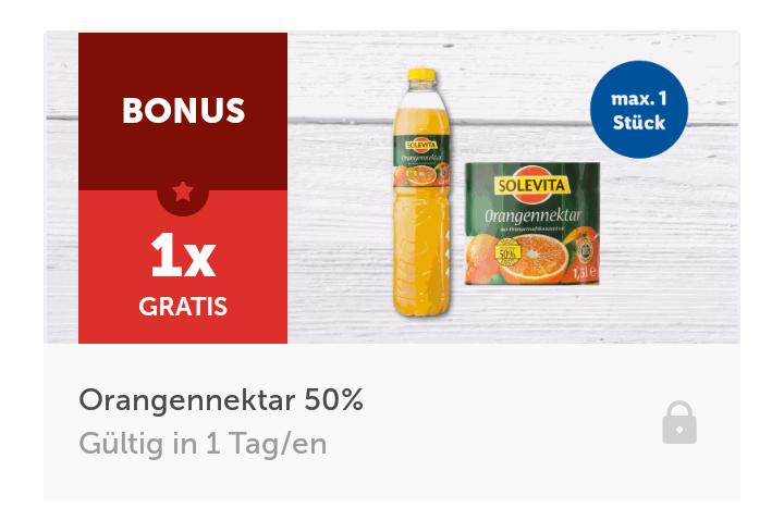 [LidlAppLotterie] 1,5l Orangennektar gratis