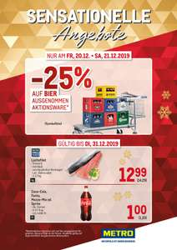 Metro : Bier -25%