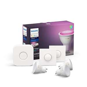 3x Philips Hue GU10 White & Color + 2x Smart Button + Bridge
