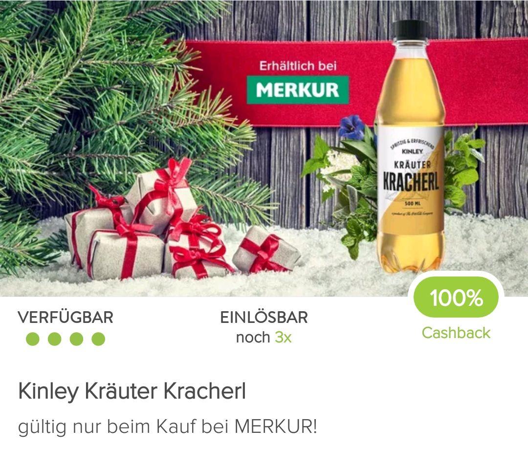3x Kinley Kräuter Kracherl gratis dank Markguru Cashback