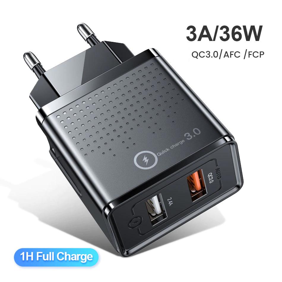 Quick Charge 3,0 mit 2,4A USB Ladegerät Für 2,73€