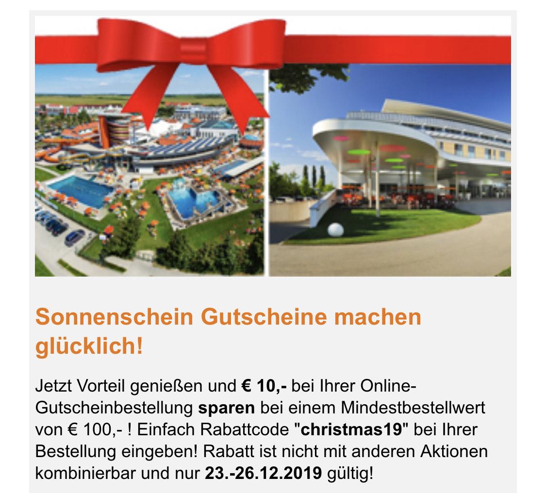 Sonnentherme/Sonnenpark 100€ Gutschein um 90€