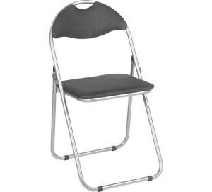Metall-Klappstuhl (grau, rot) mit Sitzpolsterung um 3 € - auch zum Wrestling geeignet