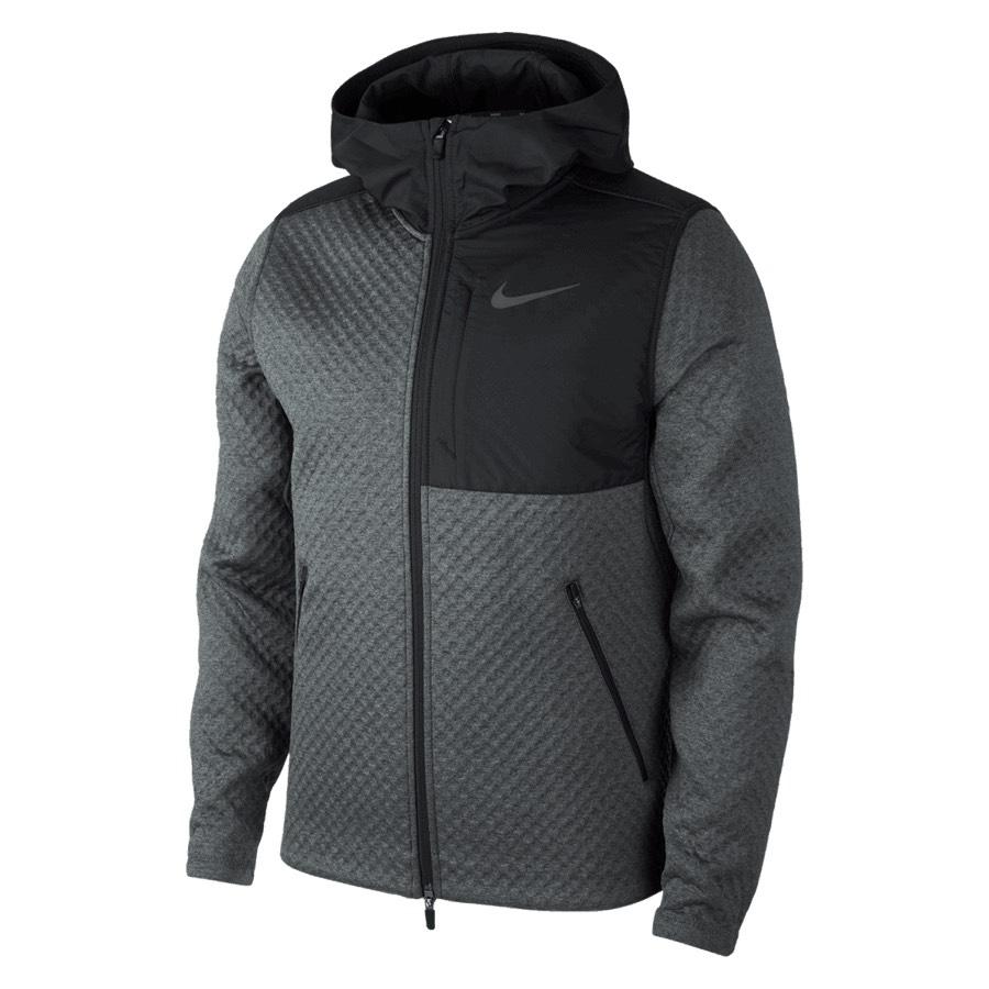Nike Kapuzenjacke Therma Sphere MX FZ Jacket grau/schwarz