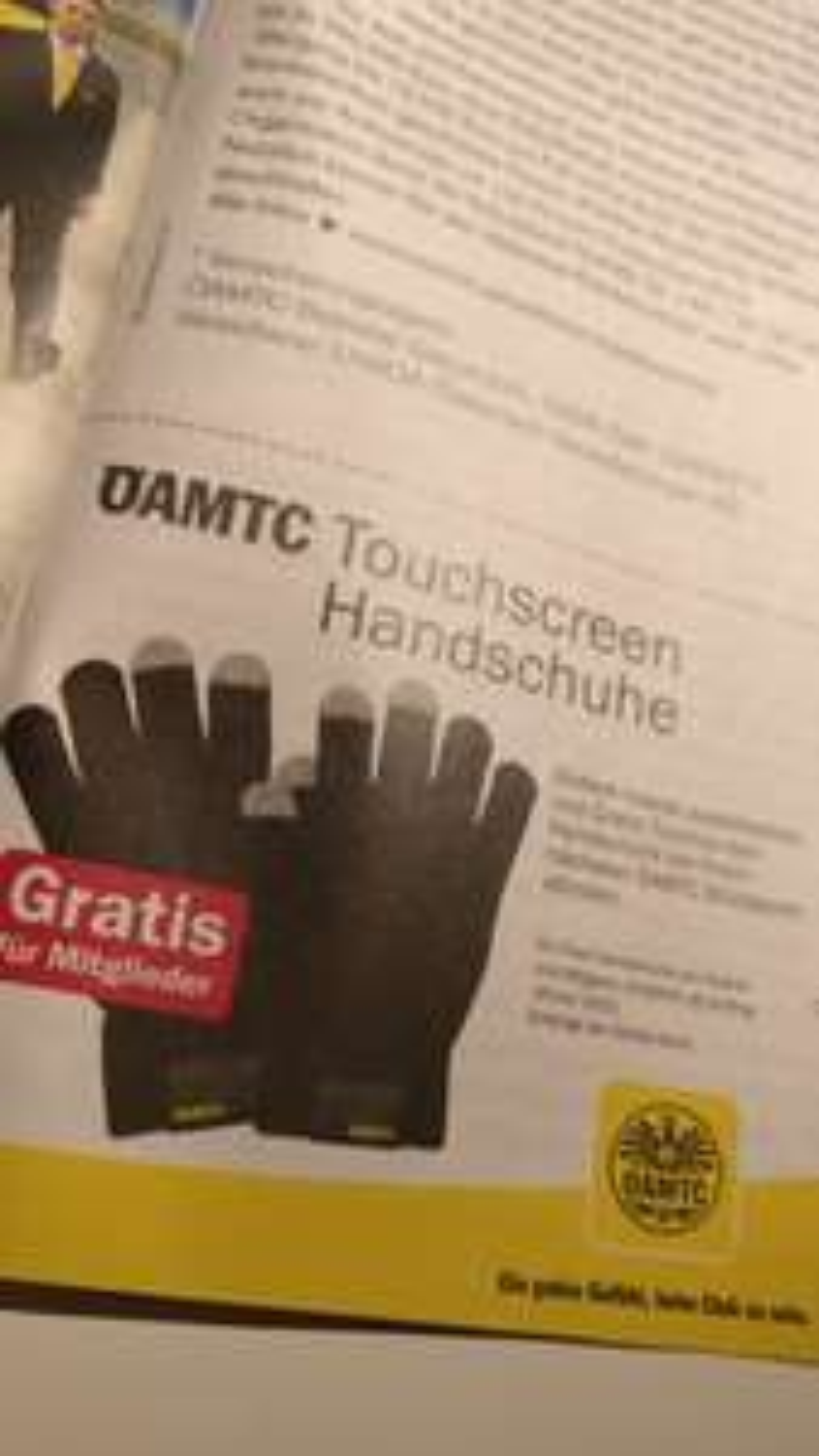 Gratis ÖAMTC Handschuhe für Mitglieder