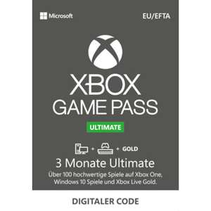 (Medion DE) Xbox Game Pass Ultimate 3 Monate für 9.99 Euro