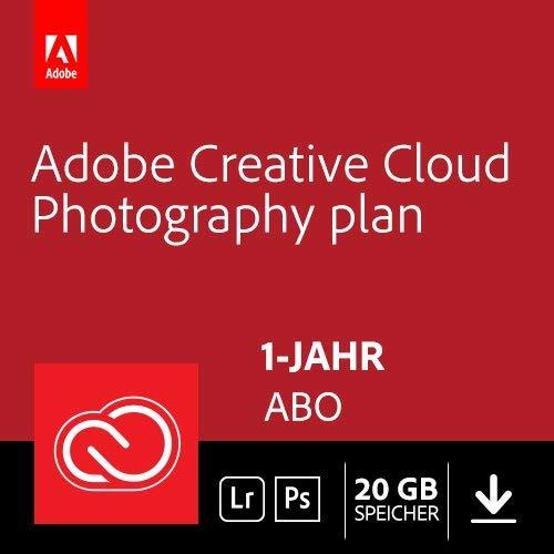 Adobe Creative Cloud Foto-Abo mit 20GB: Photoshop und Lightroom (1 Jahr)