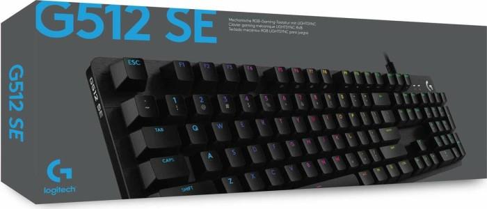 Logitech G512 SE Lightsync Mechanische Tastatur (RGB-Beleuchtung, Clicky Switches, Programmierbare F-Tasten, Aluminium-Legierung)
