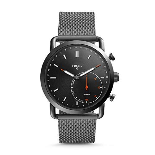 Fossil Herren-Armbanduhr mit Edelstahl-Armband (FTW1161, Bluetooth 4.1, Schrittzähler, Wecker, Kamerasteuerung, uvm.)