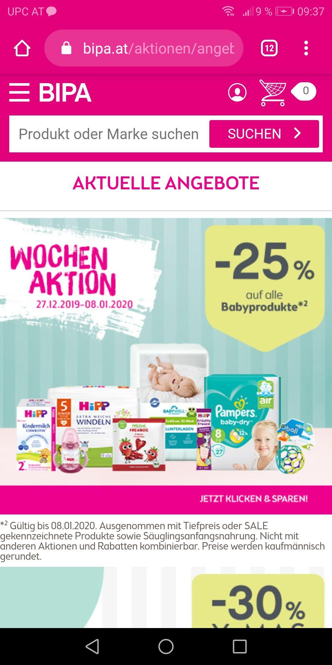 BIPA - 25% auf Babyprodukte