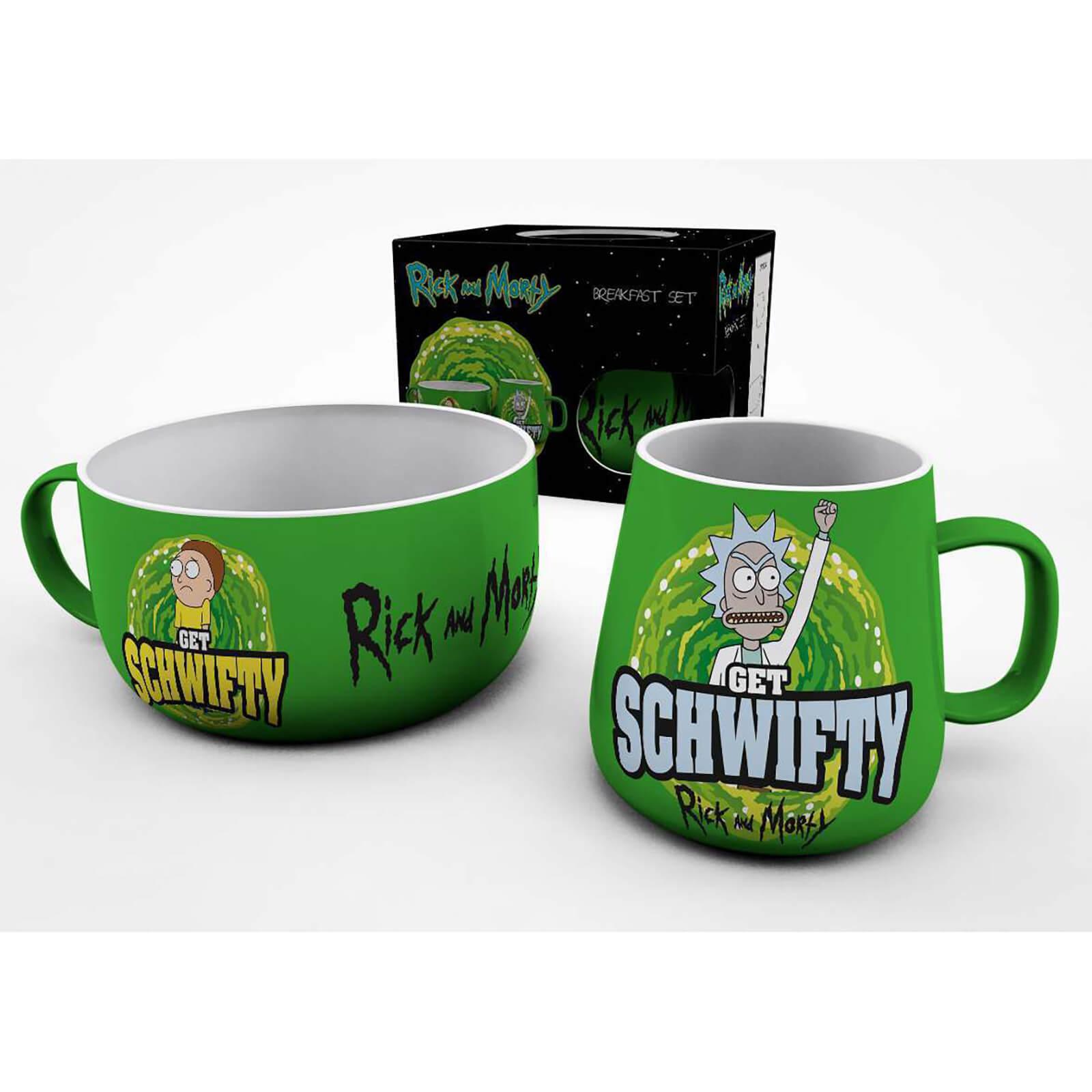 """Rick & Morty """"Get Schwifty"""" Breakfast Set (Tasse & Müslischüssel)"""