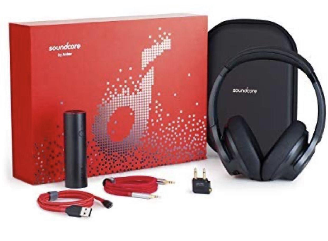 Anker Soundcore Life 2 Geschenkset mit ANC Bluetooth Kopfhörer und Powerbank