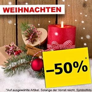 @Pagro -50% auf alle Weihnachtsartikel (Weihnachtsmann inkl. Gebläse und Beleuchtung 240 cm um 29,99€)