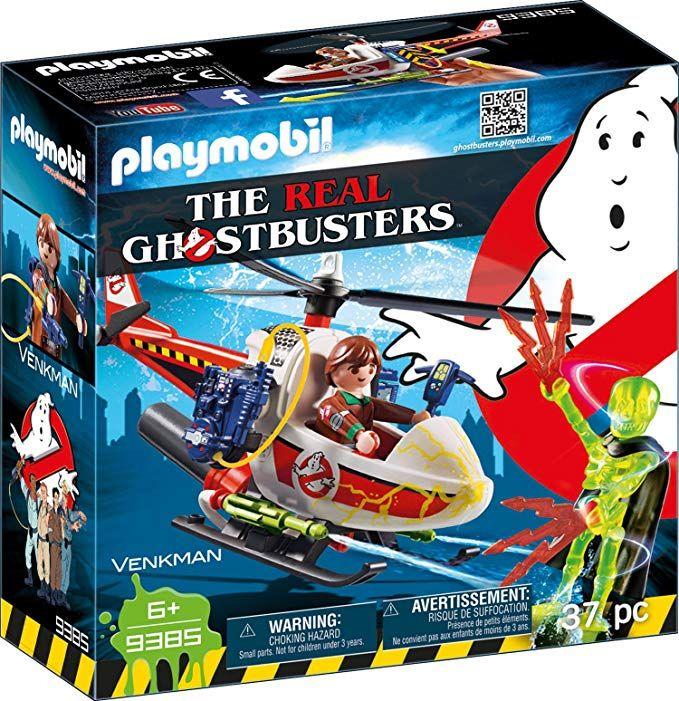 Playmobil Ghostbusters - Venkman mit Helikopter & echter Wasserspritze (Prime)