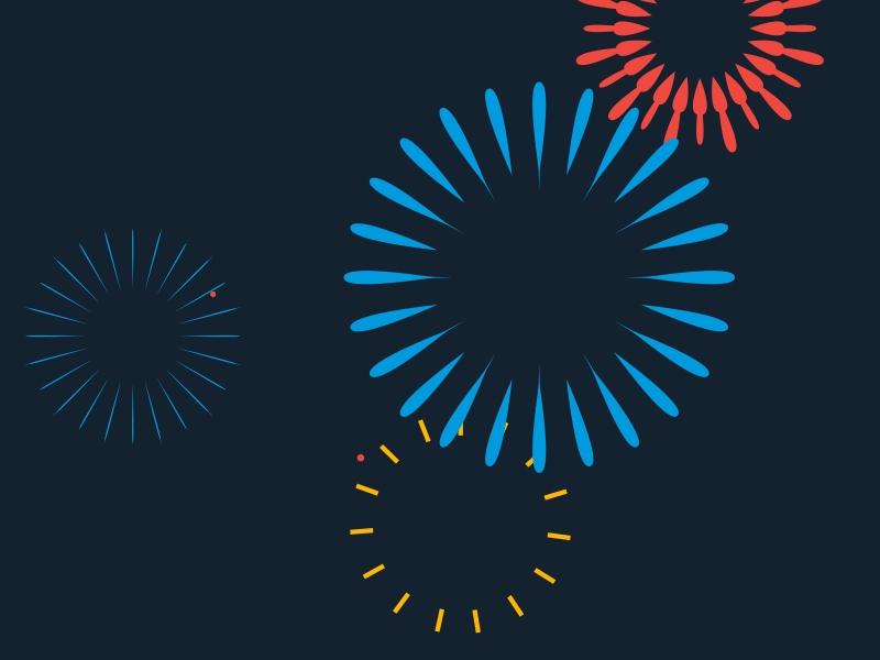 Gratis virtuelles Feuerwerk