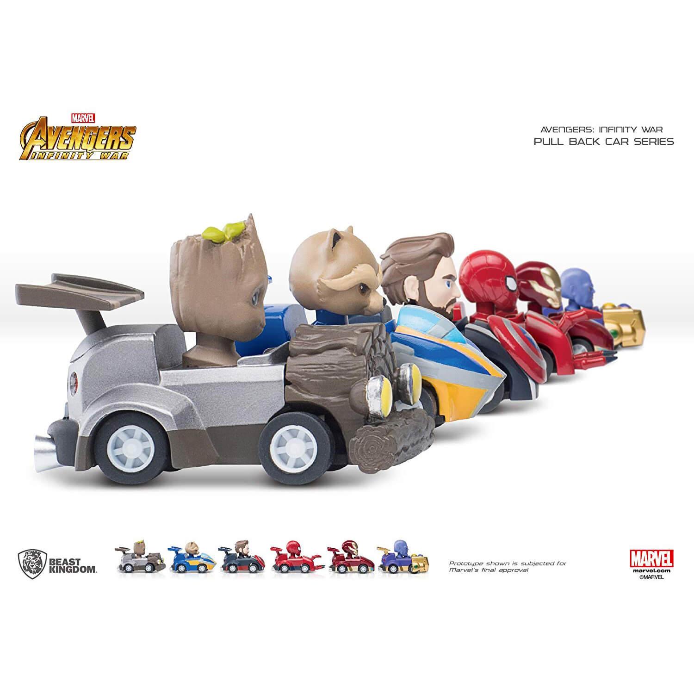 Beast Kingdom Marvel Avengers 6er Set Autos und Stifte