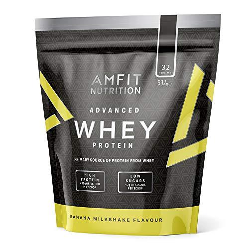 992g Amfit Nutrition Advanced Whey Protein Eiweißpulver mit Bananen-Milchshake
