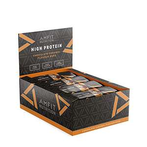 """12x Protein Riegel """"Amfit"""" - Schokolade/Karamell"""