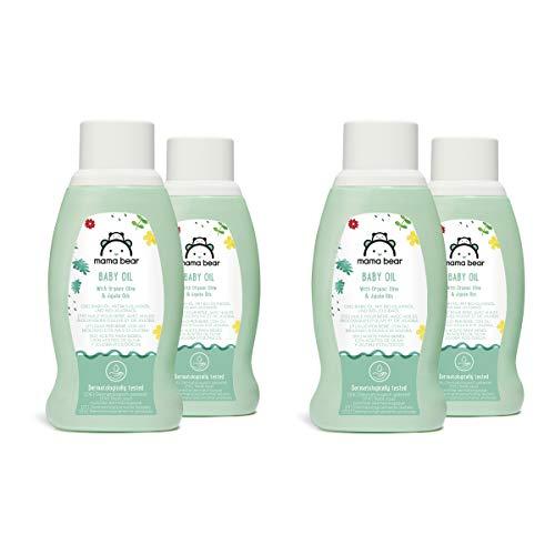 4x250ml Mama Bear Baby Öl mit Bio-Olivenöl & Bio-Jojobaöl