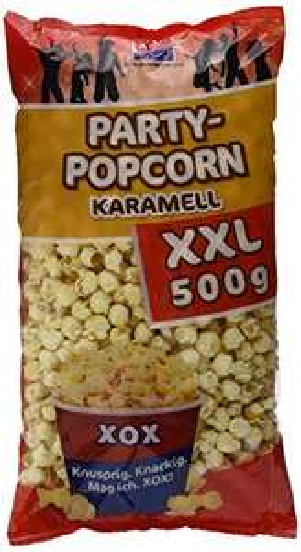 2 Kilo XOX Party Popcorn Karamell (4x500g) PLUSPRODUKT