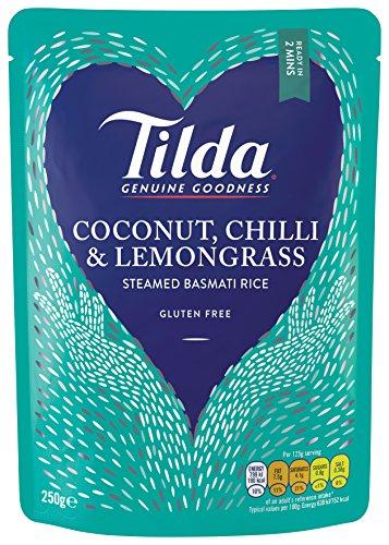 6x 250g Tilda Steamed Coconut & Chilli Basmati Reis