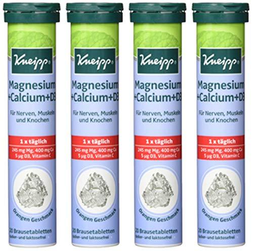 4x Kneipp Magnesium + Calcium+D3 20er Brausetabletten