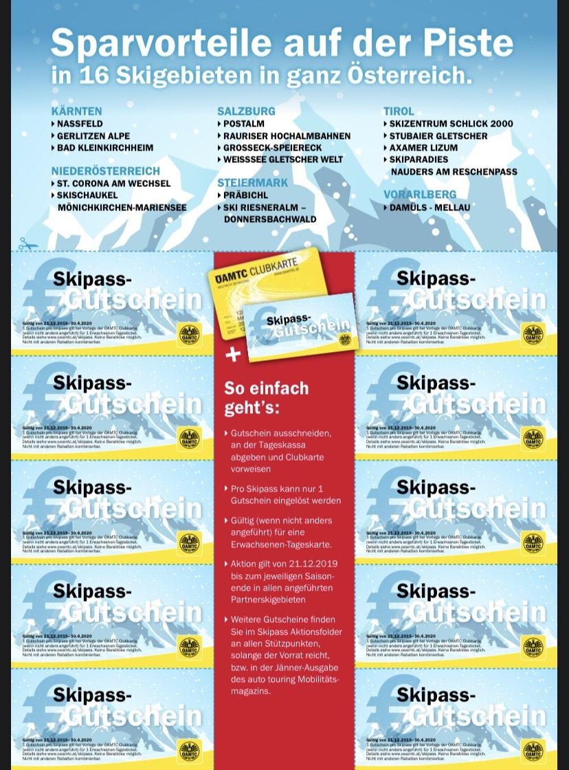 Die große ÖAMTC Skipass-Aktion in 16 Skigebieten in ganz Österreich