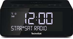 TechniSat Digitradio 52 Stereo DAB Radiowecker (DAB+, UKW, Sleeptimer, dimmbares Display, Wireless-Charging Funktion)
