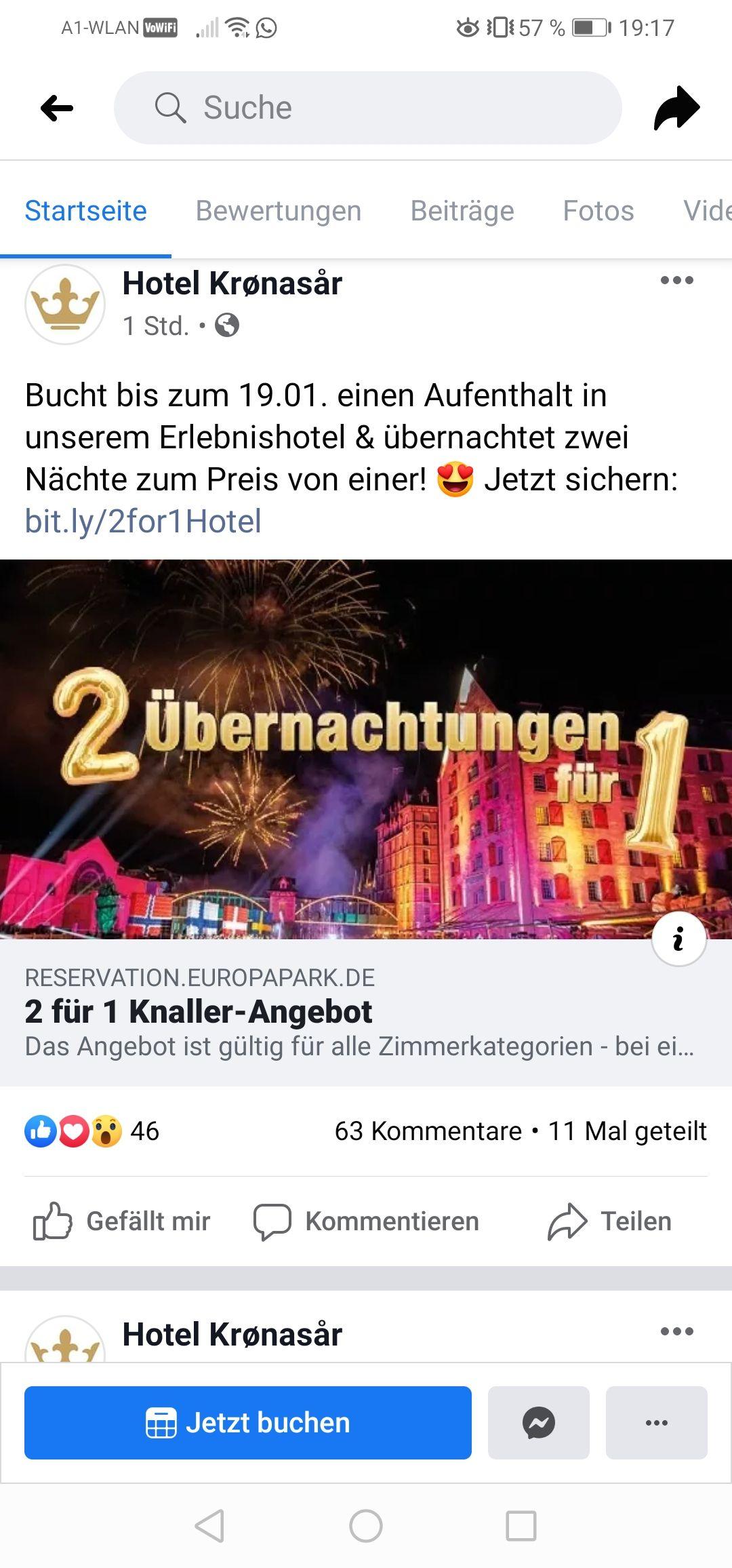 Europa Park Hotel Kronasar Aktion
