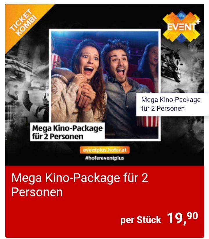 Mega Kino Ticket für 2 Personen