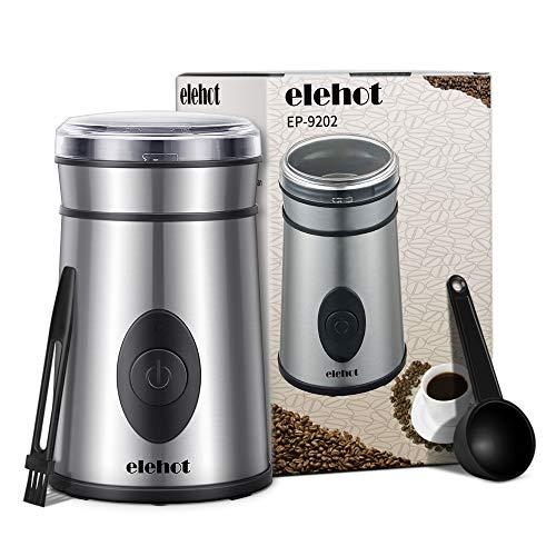 Elektrische Kaffeemühle mit Edelstahl Schlagmesser für Kaffeebohnen Nüsse Gewürze Getreide