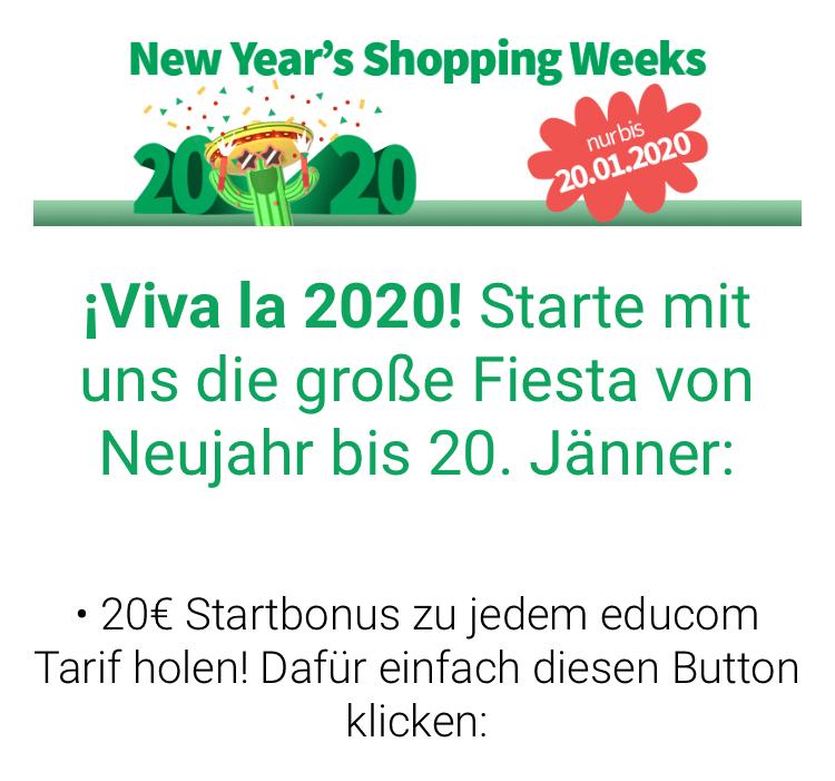 20€ für Studenten bis 20.01.2020