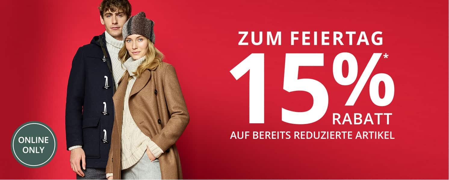 Heute extra -15% auf Sale-Artikel bei Peek&Cloppenburg