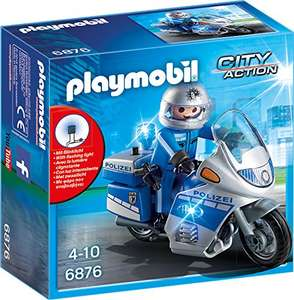 PLAYMOBIL City Action 6876 Motorradstreife mit LED-Blinklicht