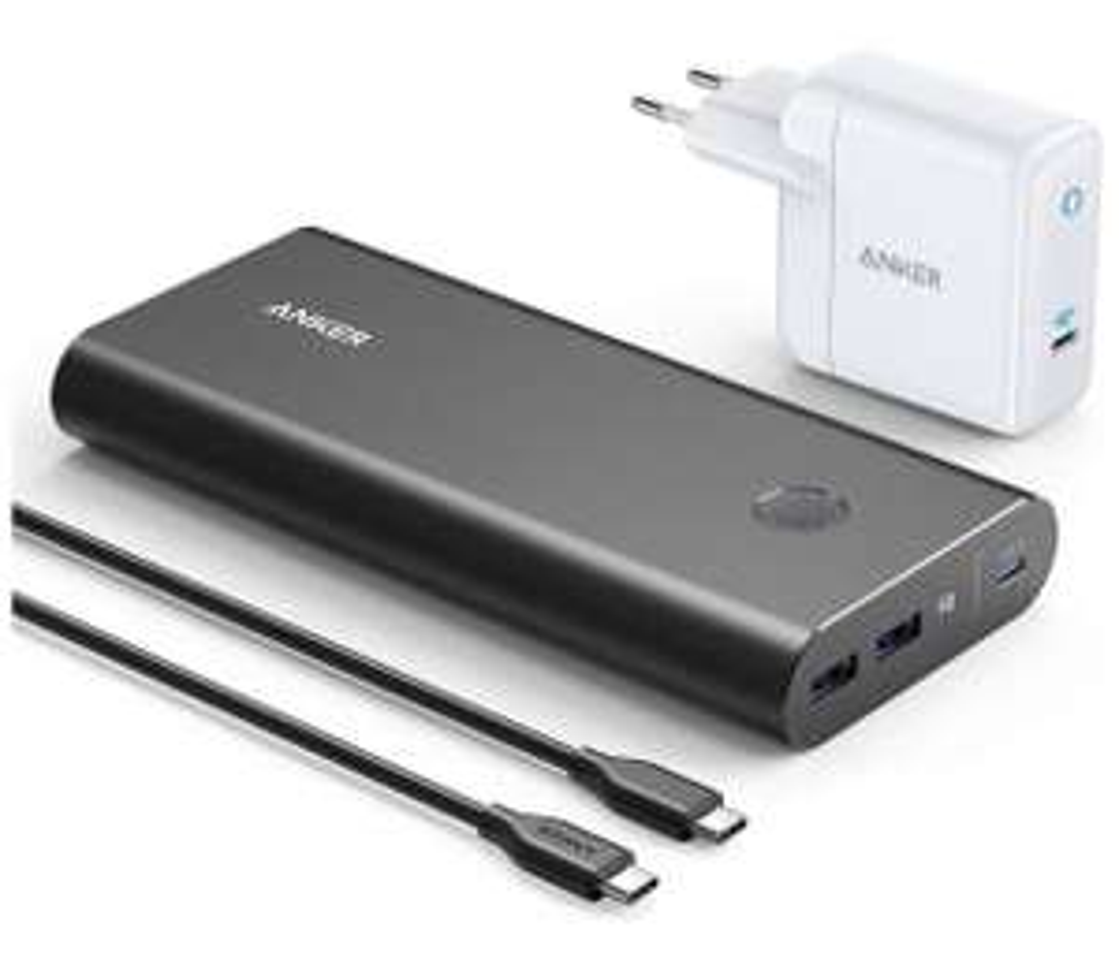 Anker PowerCore+ 26800 PD 45W Powerbank + 60W PD Ladegerät, Power Delivery Set