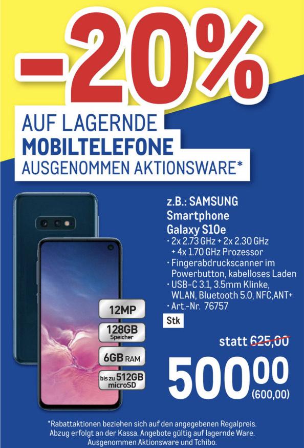 METRO: -20% auf lagernde Mobiltelefone