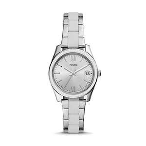Fossil Damen Analog Quarz Uhr mit Edelstahl Armband ES4590