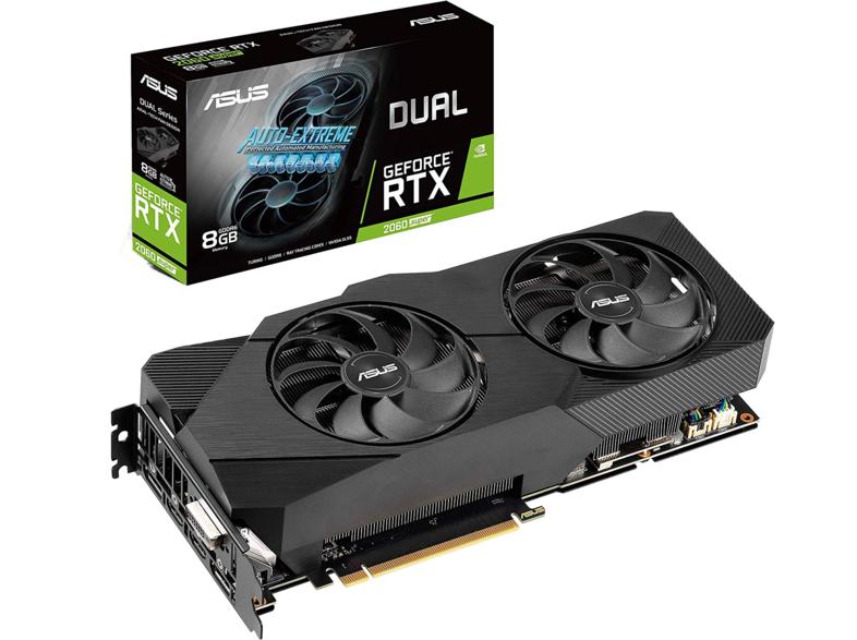 ASUS Grafikkarte Dual GeForce RTX 2060 SUPER Evo V2 8GB (90YV0DZ2-M0NA00)