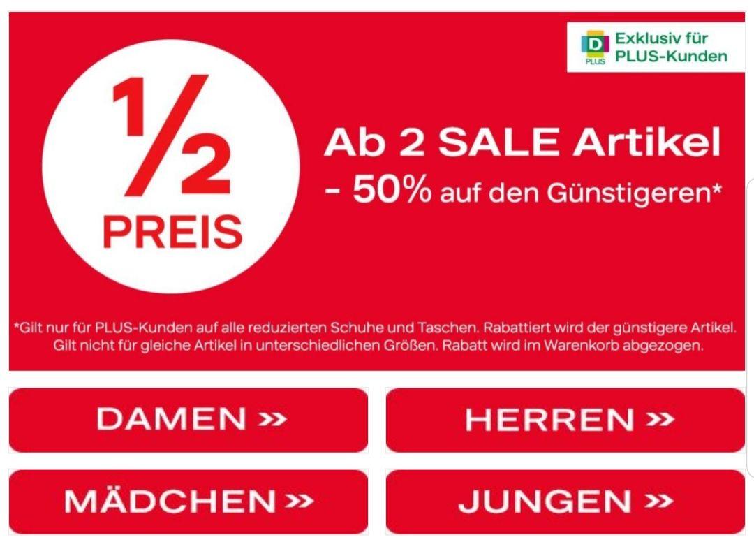 DEICHMANN PLUS ab 2 Sale Artikel -50% auf günstigeren