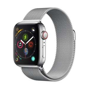 Apple Watch 4 mit Edelstahlgehäuse (40mm, LTE) + Milanaise Armband