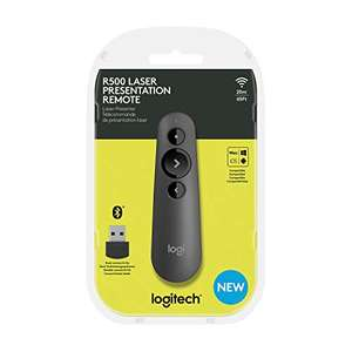 Logitech R500 Laser-Presenter mit Bluetooth und USB-Verbindung