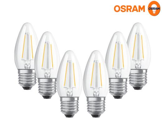 6x Osram LED Star Classic B 40 Filament (E27, dimmbar)