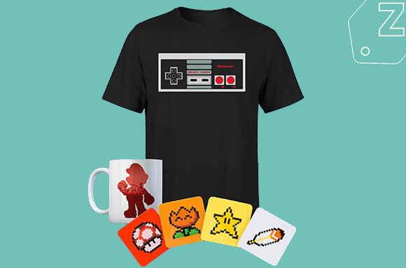 [Zavvi] Nintendo Paket mit Shirt, Tasse und Untersetzern