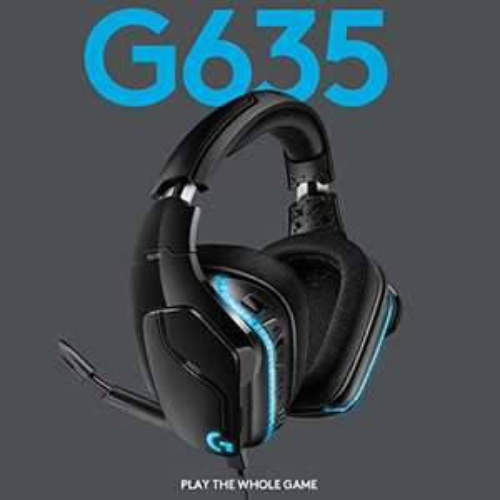 Logitech G635 Headset (Over-Ear, 7.1 Virtual Surround Sound, Lightsync RGB-Beleuchtung)