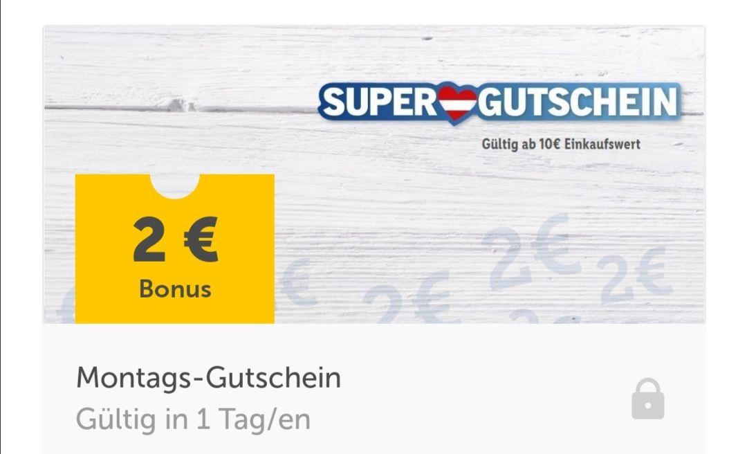 [Lidl] 2€ ab 10€ - Montagsgutschein