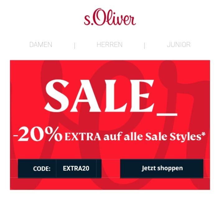 s.Oliver +20% auf Sale